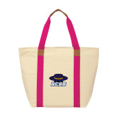 Natural/Tropical Pink Saratoga Tote-Primary