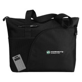 Excel Black Sport Utility Tote-Official Logo Flat