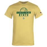 Champion Vegas Gold T Shirt-Sacramento State Volleyball w/ Ball