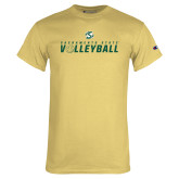 Champion Vegas Gold T Shirt-Sacramento State Volleyball Flat