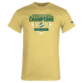 Champion Vegas Gold T Shirt-2017 Western Athletic Conference Baseball Champions
