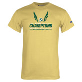 Champion Vegas Gold T Shirt-2017 Big Sky Conference Mens Outdoor Track and Field Champions
