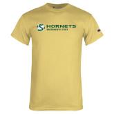 Champion Vegas Gold T Shirt-Official Logo Flat