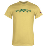 Champion Vegas Gold T Shirt-Arched Sacramento State Hornets