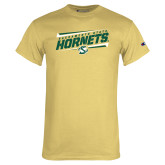 Champion Vegas Gold T Shirt-Slanted Sacramento State Hornets w/ Lines