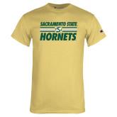 Champion Vegas Gold T Shirt-Sacramento State Hornets Stacked w/ Stripes