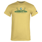Champion Vegas Gold T Shirt-Sacramento State Football w/ Field