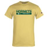 Champion Vegas Gold T Shirt-Sacramento State Football w/ Bar