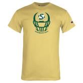 Champion Vegas Gold T Shirt-Sacramento State Football w/ Helmet