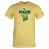 Champion Vegas Gold T Shirt-Sacramento State Hornets Basketball w/ Net