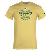 Champion Vegas Gold T Shirt-Sacramento State Hornets Softball w/ Seams