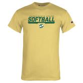 Champion Vegas Gold T Shirt-Sacramento State Softball Stencil