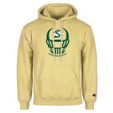 Champion Vegas Gold Fleece Hoodie-Sacramento State Football w/ Helmet