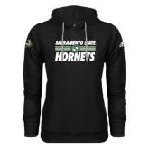 Adidas Climawarm Black Team Issue Hoodie-Sacramento State Hornets Stacked w/ Stripes