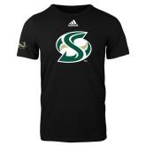 Adidas Black Logo T Shirt-S Mark