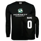 Black Long Sleeve TShirt-Official Logo, Custom Tee w/ Name and #
