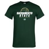 Dark Green T Shirt-Sacramento State Volleyball w/ Ball