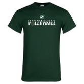 Dark Green T Shirt-Sacramento State Volleyball Flat