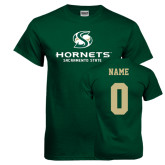 Dark Green T Shirt-Official Logo, Custom Tee w/ Name and #