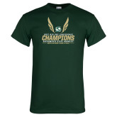 Dark Green T Shirt-2017 Big Sky Conference Mens Outdoor Track and Field Champions