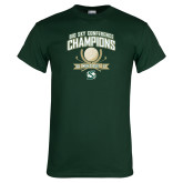Dark Green T Shirt-2017 Big Sky Conference Mens Golf