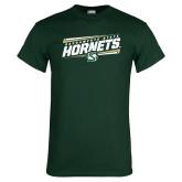 Dark Green T Shirt-Slanted Sacramento State Hornets w/ Lines