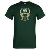 Dark Green T Shirt-Sacramento State Football w/ Helmet