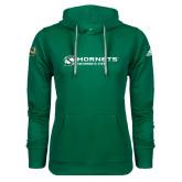 Adidas Climawarm Dark Green Team Issue Hoodie-Official Logo Flat