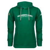 Adidas Climawarm Dark Green Team Issue Hoodie-Arched Sacramento State Hornets