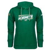 Adidas Climawarm Dark Green Team Issue Hoodie-Slanted Sacramento State Hornets w/ Lines