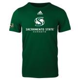 Adidas Dark Green Logo T Shirt-Stacked Logo