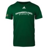 Adidas Dark Green Logo T Shirt-Arched Sacramento State Hornets