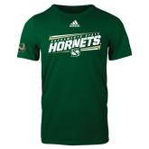 Adidas Dark Green Logo T Shirt-Slanted Sacramento State Hornets w/ Lines