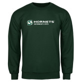 Dark Green Fleece Crew-Official Logo Flat
