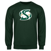 Dark Green Fleece Crew-S Mark