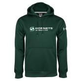 Under Armour Dark Green Performance Sweats Team Hoodie-Official Logo Flat