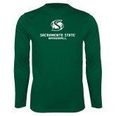 Performance Dark Green Longsleeve Shirt-Baseball