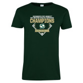 Ladies Dark Green T Shirt-2017 Western Athletic Conference Baseball Champions