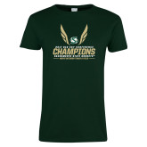 Ladies Dark Green T Shirt-2017 Big Sky Conference Mens Outdoor Track and Field Champions