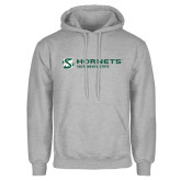 Grey Fleece Hoodie-Official Logo Flat