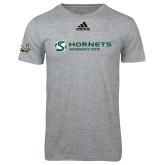 Adidas Sport Grey Logo T Shirt-Official Logo Flat
