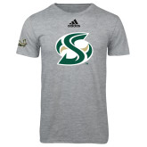 Adidas Sport Grey Logo T Shirt-S Mark
