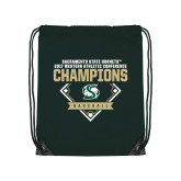 Dark Green Drawstring Backpack-2017 Western Athletic Conference Baseball Champions