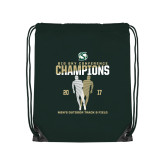 Dark Green Drawstring Backpack-2017 Big Sky Conference Mens Outdoor Track and Field Champions