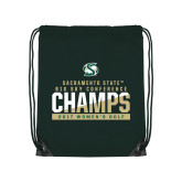 Dark Green Drawstring Backpack-2017 Big Sky Conference Womens Golf