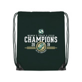 Dark Green Drawstring Backpack-2019 Womens Track and Field Champions