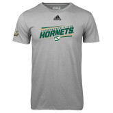 Adidas Climalite Sport Grey Ultimate Performance Tee-Slanted Sacramento State Hornets w/ Lines
