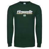 Dark Green Long Sleeve T Shirt-#StingersUp
