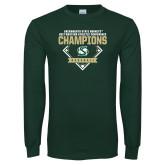 Dark Green Long Sleeve T Shirt-2017 Western Athletic Conference Baseball Champions