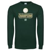 Dark Green Long Sleeve T Shirt-2017 Big Sky Conference Mens Golf